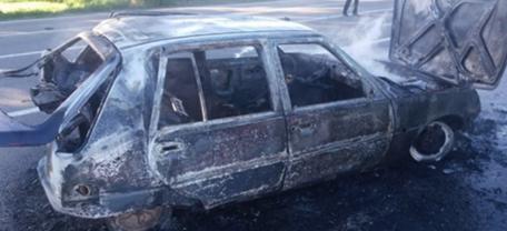 В результате взрыва ГБО заживо сгорел водитель автомобиля